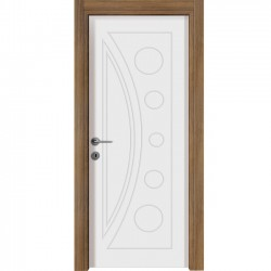 Mat Beyaz / Teak Kaplama Kapılar